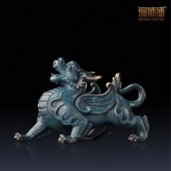 铜师傅 全铜摆件《威猛貔貅(小号)》家居饰品 铜工艺品
